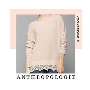 Anthropologie | Pins & Needles Pink Knit Sweater